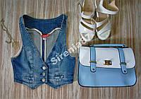 Стильная джинсовая жилетка H&M