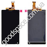 Модуль Sony C6502 (C6503 (L35h)) Xperia ZL: дисплей + тачскрин (сенсор), цвет черный