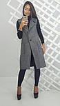 Женский стильный удлиненный жилет из твида , фото 3