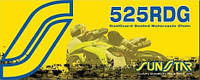 Мото цепь  525 Sunstar SS 525RDG стальная размер цепи 525 для мотоцикла количество звеньев 108 - 124 звеньев