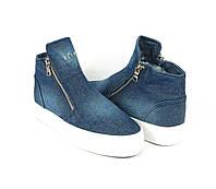 Джинсовые женские ботинки осень 2016