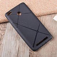 Чехол накладка для Xiaomi Redmi 3 PRO силиконовый матовый, BOSILANG Черный