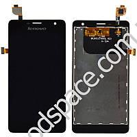 Дисплей Lenovo K860 с тачскрином в сборе, цвет черный