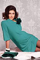 Платье для беременных С отстрочками бирюза-М