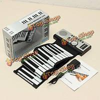 Konix 61 клавиш гибкая roll up электронная портативный мягкая клавиатура фортепиано