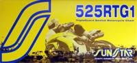 Мото цепь  525 Sunstar SS 525RTG1 золотая размер цепи 525 для мотоцикла количество звеньев 108 - 124 звеньев