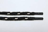 Шнурки 5мм плотные черный+св. беж, фото 1