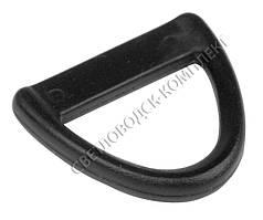 Полукольцо 22 мм пластик, цв. чёрный, арт. ПК-2205