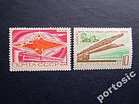 2 марки СССР 1968 железнодорожный транспорт MNH