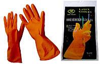 Перчатки хозяйственные резиновые латексные Household Gloves L размер