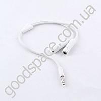 Аудио кабель 3,5 мм на 2 выхода по 3,5 мм