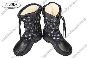 Женские дутики черные (Код: М-23 КРОК)