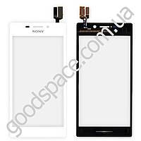 Тачскрин (сенсор) Sony D2305, D2302, D2303, D2306 Xperia M2 S50h, цвет белый, высокое качество