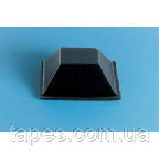 Квадратний бампер BS-19 (20,6 мм х 7,6 мм) чорний колір, Bumper Specialties Inc.