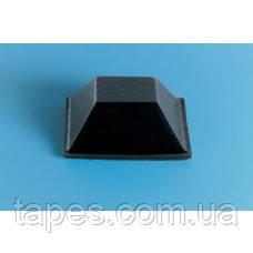 Квадратный бампер BS-19 (20,6мм х 7,6мм) черный цвет, Bumper Specialties Inc.