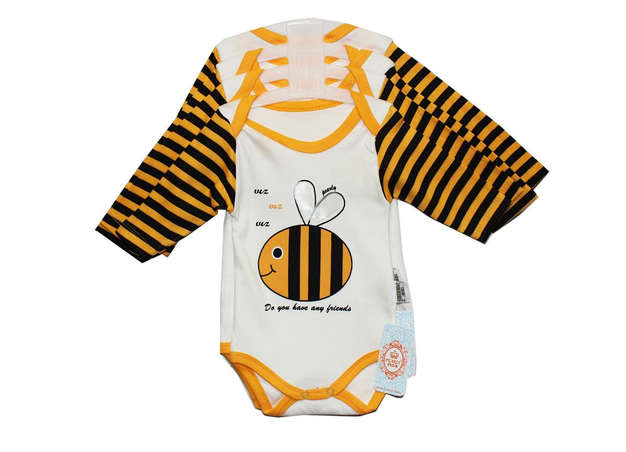 Бодик детский трикотажный для мальчика и девочки. Pearly 3025