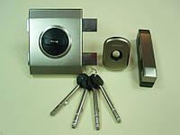 Замок накладной Gerda Tytan ZX Plus никель (длинный ключ)