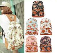 Рюкзак женский городской кожзам Цветочный Принт