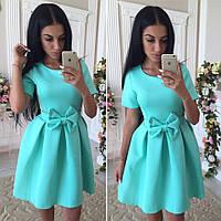 Женское стильное платье с бантиком (2 цвета)