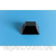 Квадратный бампер BS-3 (12,7мм х 5,8мм) черный цвет, Bumper Specialties
