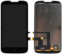 Дисплей (экран) + сенсор (тач скрин) LENOVO A560 black (оригинал)