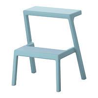 "IKEA ""МЭСТЕРБИ"" Табурет-лестница, голубой"