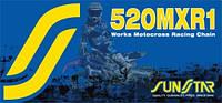 Цепь для мотокросса  520 Sunstar SS 520MXR1 золотая размер цепи 520   количество звеньев 108 - 124 звеньев