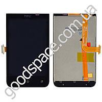 Дисплей HTC Desire 200 с тачскрином в сборе, цвет черный