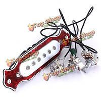 Медь одного магнитная катушка пикап бесшумный акустическая гитара