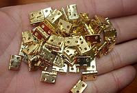 Завесы миниатюрные для шкатулки 10 мм ,золото