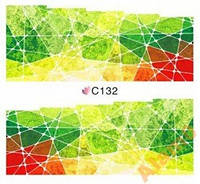 Слайдеры наклейки С132 зелено красные 7х6,5 см
