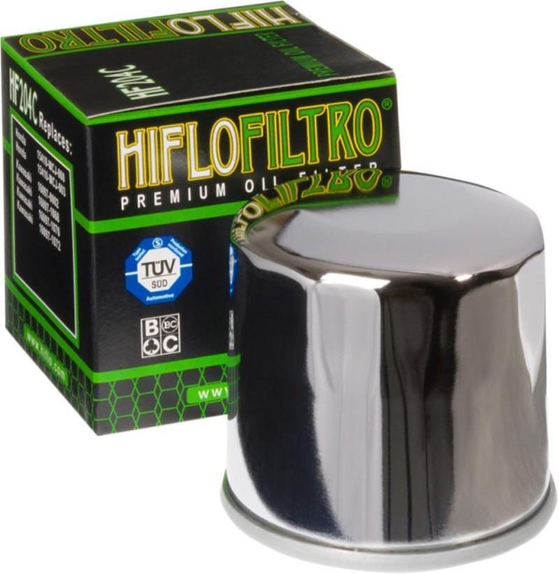 Фильтр масляный Hiflo HF204C (хромированный)