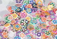 Нарезка фимо для дизайна микс цветы (200 шт)