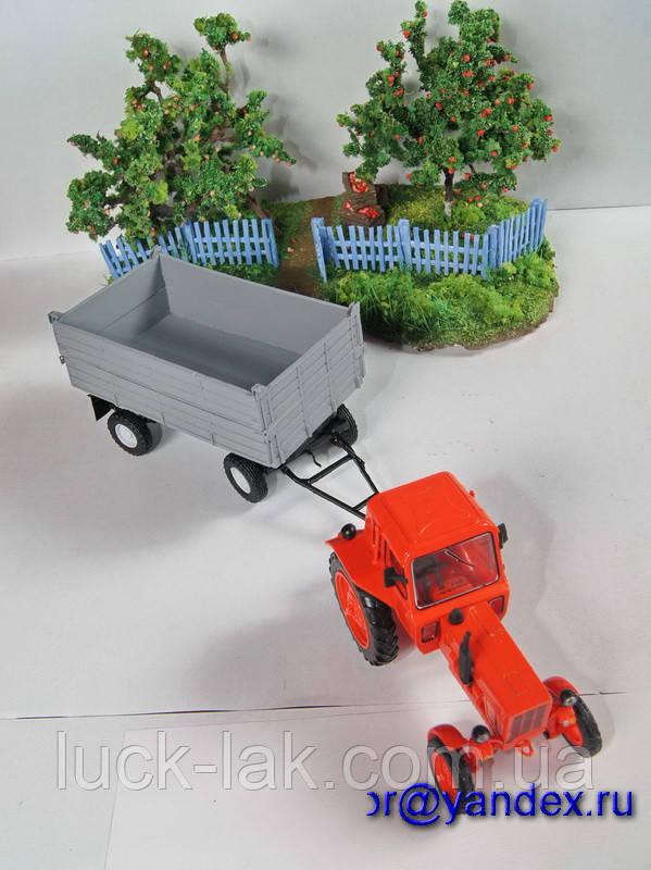 Масштабная модель прицеп тракторный ПТС 1/43 вар 3