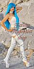 Дуже високі ботфорти ponypaly білі чоботи вище коліна, фото 2
