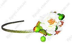 Ободок декорированный цветами Весна