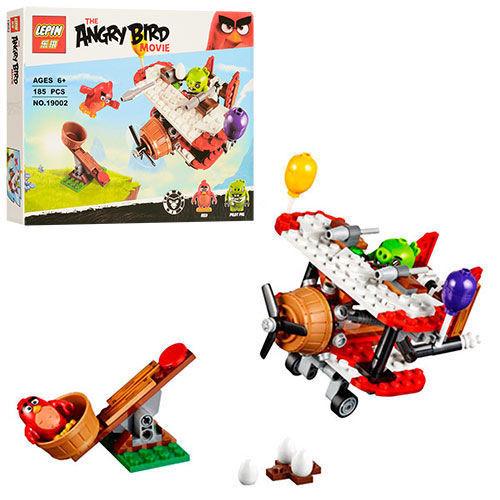 """Конструктор Lepin 19002 Angry Birds """"Самолетная атака свинок"""" 185 деталей"""
