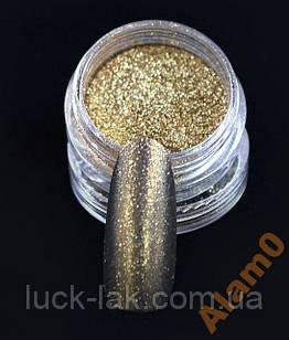 Золото хромовый пигмент зеркальные ногти блеск