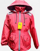Стильное детское пальто для девочки с капюшоном