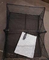 Раколовка из нити с металлическим каркасом: боковые ходы, 20х60х45 см в сложенном виде 45х69 см