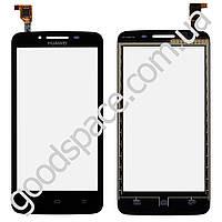 Тачскрин (сенсор) Huawei Y511 Ascend, большая или маленькая микросхема, цвет черный