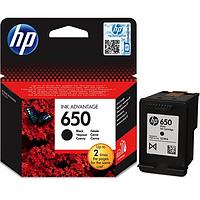 Картридж HP 650 Black Original (CZ101AE)  оригинальный, чёрный, струйный, с пигментными чернилами (4.5ml)