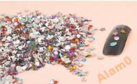 Стразы для ногтей,100 шт, микс цвет, форма, размер, фото 1