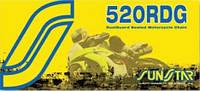 Мото цепь  520 Sunstar SS 520RDG стальная размер цепи 520 для мотоцикла количество звеньев 108 - 124 звеньев