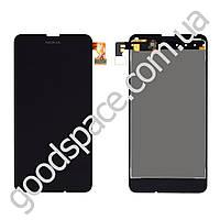 Дисплей Nokia 630 Lumia, 635, 636, 638 с тачскрином в сборе, цвет черный