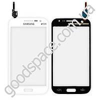 Тачскрин (сенсор) Samsung i8552, большая или маленькая микросхема, цвет белый, высокое качество