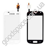 Тачскрин (сенсор) Samsung S7562, большая или маленькая микросхема, цвет белый
