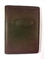 Кожаная обложка для прав + загран паспорт, с логотипом FORD