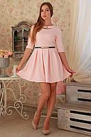Нарядное платье со складками на юбке