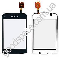 Тачскрин (сенсор) Nokia C2-06, цвет черный, оригинал